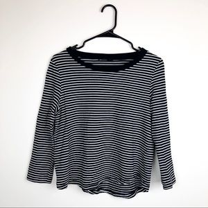 COS Black and White Striped Tee
